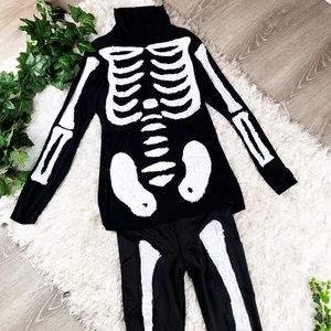 Hand Painted 2 Piece Skeleton Cobra Kai Costume